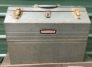 Craftsman 6536 Tombstone Metal Tool Box Vintage Cantilever Hip Roof Trays