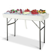 4ft Fold Party Ice Chests Cooler Table Outdoor Living Plastic Matching Skirt New