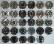 1988 - 2015 Complete Set Of 29 Canada Maple Leaf 1oz .9999 Silver 5 Coins