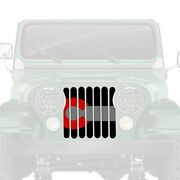 For Jeep Cj7 76-86 Dirty Acres 1-pc Colorado Red Style Perforated Main Grille