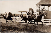 Vancouver Bc Brighouse Race Track Horse Racing Richmond Real Photo Postcard G68