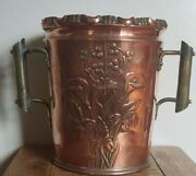 Antique Arts And Crafts Movement Copper Champagne Bucket