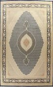 Vegetable Dye Wool/ Silk Geometric Tebriz Hand-knotted Oriental Area Rug 10and039x14and039