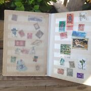 Antique Global World Israel Post Stamps Collection Book Vintage Collectible