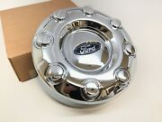 2005-2016 Ford F-350 Dually 2 Wheel Drive Front Center Hub Cap Cover Chrome Oem