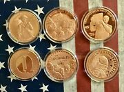 Lot New Donald Trump Save America Rally Space Force 1 Oz .999 Copper Round Coin