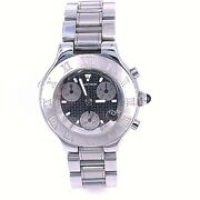Chronoscaph 21 Model 2424 Stainless Steel Band Watch