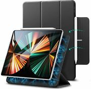 Rebound Magnetic Case For Ipad Pro 12.9 Inch Smart Magnetic Trifold Stand Black