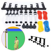 Telescopic Photography 4-roller Wall Mounting Manual Background Support System