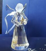 Rare Annual Angel With Star Ornament 2009 Christmas Crystal Mint