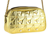 Gg Marmont Pearl Studs Small Chain Shoulder Bag Quilted No.9767