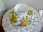 Vintage Hand Painted Glass Gone With The Wind Lamp Shade 10 Inch Fitter