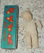 Antique 1950's Shackman Sleepy Baby With Tags 8 Inch-  No. 148010 Japan W Box