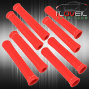 For Chrysler 8x Slip On Spark Plug Wire Heat Sleeve Insulation Wrap Unit Red