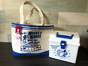 Nwt New Tokyo Disneyland Mini Tote Bag And Deep Stock Box Lunch Mickey Mouse Set