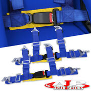 2 Pair Nylon Drift Racing Tuning Track Safety Seat Belt Harness Quick Snap Blue