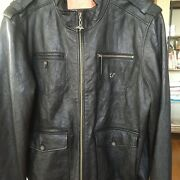 Great Quality Lifted Research Group Black Mens Lamp Leather Jacket L Near Mint