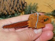 Mini Dime Tip Chainsaw Cottonwood Bark Chain Saw Carvers Replica Wood Carving