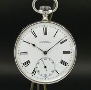 Vintage Ulysse And Nardin Pocket Watch, Solid Silver .900, Made In Earlies 1900's