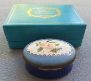 Halcyon Days Replica From 18th Century Peaches Trinket Box England Mint In Box