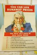 1944 You Can Lick Runaway Prices You Hold The Key To Hold Down Prices Wwii Poste