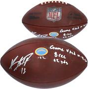 Autographed Keenan Allen Los Angeles Chargers Game Used Football Item11252251
