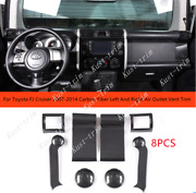 For Toyota Fj Cruiser 2007-2014 Carbon Fiber Left And Right Air Outlet Vent Trim