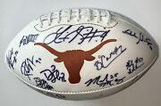 2005 Texas Longhorns Team Signed Football National Champs Vince Young Beckett