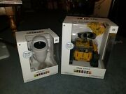 U-command Wall-e And Interaction Eve. Misb. Free Shipping. Disney Pixar Toy