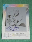 2009-10 The Cup Victor Hedman Rookie Masterpieces Printing Plate Auto 1/1 Rc