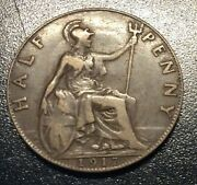 Great Britain 1917 Half Penny As Shown