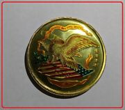 Vintage United States 10 Ounce .999 Fine Silver Eagle Enameled Gold Coin