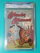 Wonder Woman 15 Cgc 8.5 1945 Golden Age Ow/w Pages Tigeapes Of Neptunia