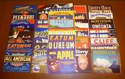 50 Old Fruit Box Apple Crate Labels Vintage Lot Advertising Nos 1930s 40s 50s C9