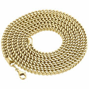 Real 10k Yellow Gold 3d Hollow Franco Box Link Chain 5.50 Necklace 26-40 Inch