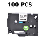100pk Tz231 Tze-231 Black On White Label Tape For Brother P-touch Pt-9200pc 1/2