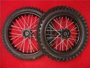Big Wheel And Tyre Pit Bike Conversion Kit. Black 17 Front 14 Rear 15mm Steel