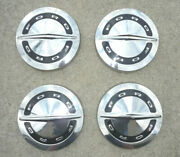 Set Of 4 Ford 1964 Galaxie 500 427 Dog Dish Hubcaps