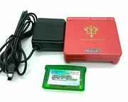 Nintendo Gameboy Advance Sp Limited Char Aznable Console Charger Pokemon Emerald