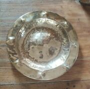 Antique Arts And Crafts Movement Hammered Brass Tray