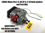 Lionel Parts - New Motor Fits Diesels Like F-3 Gp Ep-5 E-33 Budd