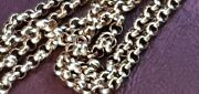 9ct Rose Solid Gold Antique Muff / Guard Chain 64 Long 39.6gm Swivel Clasp