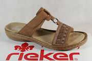 Rieker Ladies Mules Slippers House Shoes Braun New