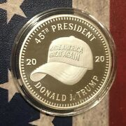 Donald Trump Pence Maga Hat 1 Oz .999 Fine Silver Round Coin Sold Out