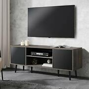 Wampat Mid-century Modern Tv Stand For Tvs Up To 65 Inch Retro Tv Console Tab...