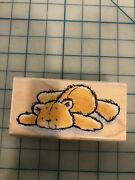 Penny Black Retired New Teddy Bear Rubber Stamp Flat Out 3463f Baby Cute