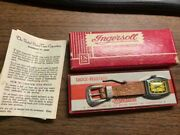 1959 Ingersoll Robin Hood Watch In Original Box With Papers Nos Mint