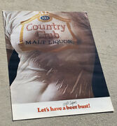 1975 Country Club Beer Wet T-shirt Poster Goetz By Pearl - Original Nos