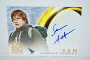 Lord Of The Rings Return King Lotr Rotk Sean Astin As Sam Autograph Signed Card