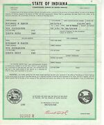1959 Studebaker 4e3 1/2 Ton Pick Up Truck Indiana Title Historical Document
